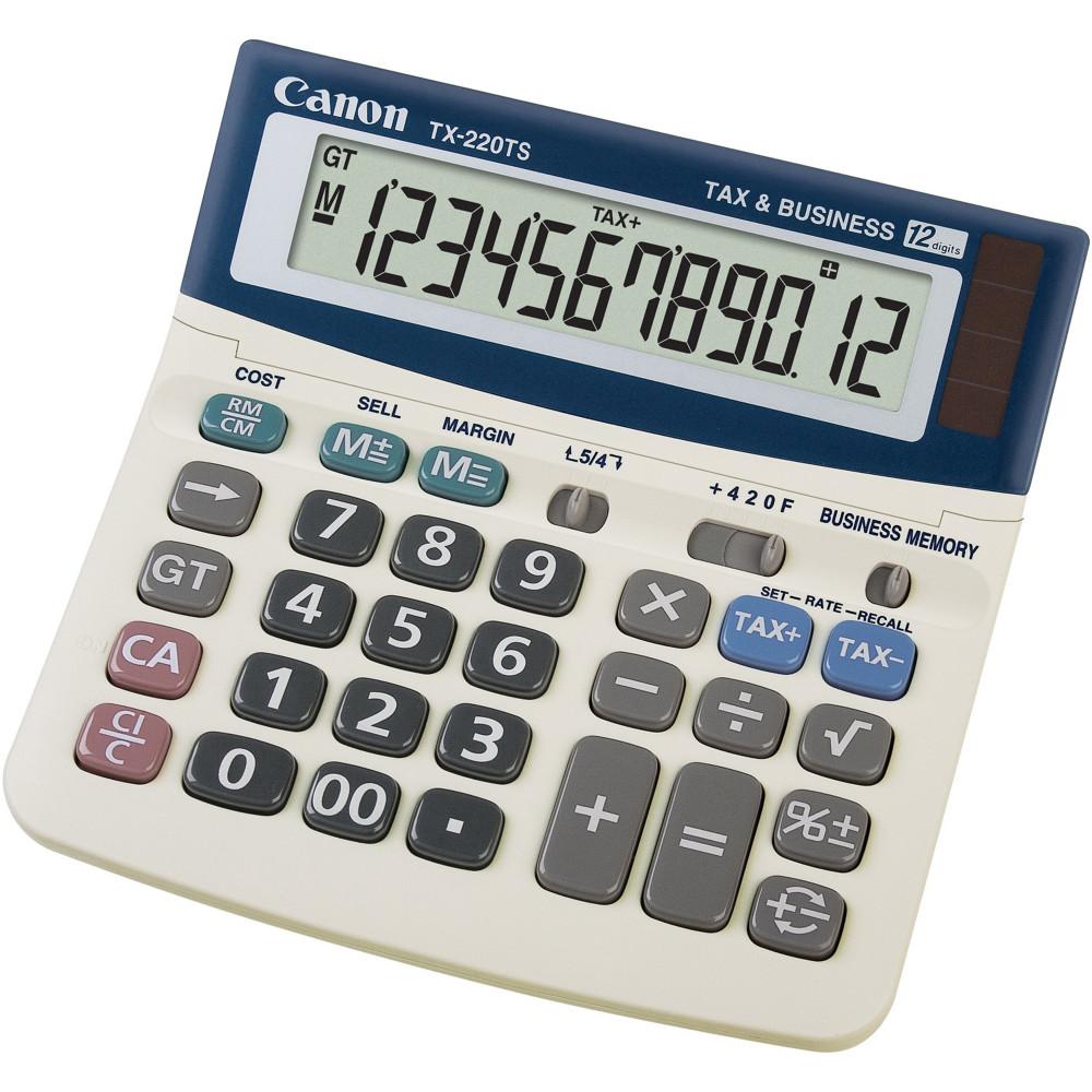 Canon TX-220TS Desktop Calculator 12 Digit