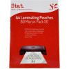 STAT Laminating Pouches A4 80 Micron Clear Pack of 50