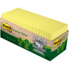 Post-It 654R-24CP-CY Notes 76x76mm Greener Recycled Cabinet Pack Yellow Pack of 24