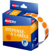 Avery Removable Dispenser Labels 14mm Round Orange Pack of 1050