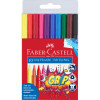 Faber-Castell Grip Triangular Marker Assorted Colours Pack of 10