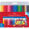 Faber-Castell Grip Triangular Marker Assorted Colours Pack of 20