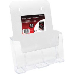 Deflect-O Brochure Holder A4 Single Tier Free Standing And Wall Mount