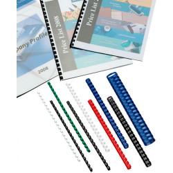 GBC Plastic Binding Comb 12mm 21 Ring 95 Sheets Capacity Black Pack of 100