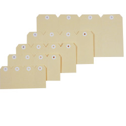 Esselte Shipping Tags No 8 80x160mm Buff Box Of 1000
