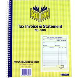Spirax 500 Business Book Carbonless Tax Invoice & Statement Quarto