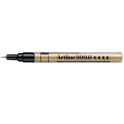 Artline 999XF Metallic Marker Xtra Fine 0.8mm Gold