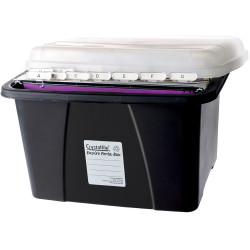 Crystalfile Enviro Porta Box 32L With 10 Suspension Files Black