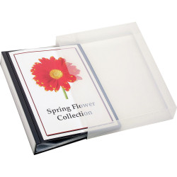 Marbig Clearview Display Book A4 24 Pocket Insertable Cover Blue