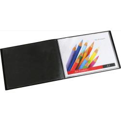 Marbig Display Book Landscape A3 20 Pocket Insertable Cover Black