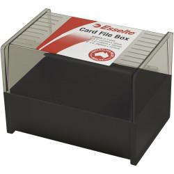 Esselte SWS Card File Box 102x152mm (4x6) System Card Black
