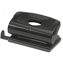 Marbig 2 Hole Punch Small 12 Sheet Capacity Black