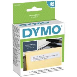 Dymo S0722550 Labelwriter Labels 19mmx51mm Multipurpose White Box of 500