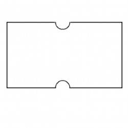 Pricing Gun Labels White Permanent 21x12mm Pack of 10
