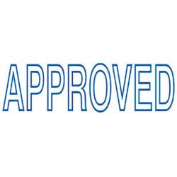 Deskmate Pre Ink Stamp A02A Approved Blue
