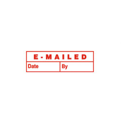 Deskmate Pre Ink Stamp E10 Emailed (Date & By) Red