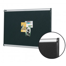 Quartet Prestige Bulletin Board 900x600mm Black Foam with Aluminium Frame