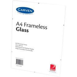 Carven Document Frame A4 Glass Frameless