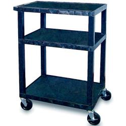 Tuffy Utility Trolley 3 Shelf H86cm Black