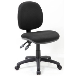 Crescent Medium Back Task Chair No Arms Black Fabric