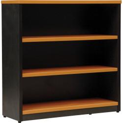 Logan Bookcase 900Hx900Wx315mmD 2 Shelves Beech and Ironstone
