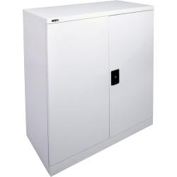 Go Steel Stationery Storage Cupboard 1015Hx910Wx450mmD Silver Grey