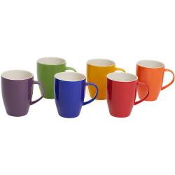 Connoisseur Mugs Assorted Colours 350ml Set of 6