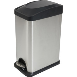Compass Rectangle Pedal Bin Stainless Steel 15 Litres