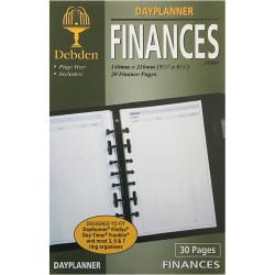 Debden Dayplanner Refill Finances 216X140Mm