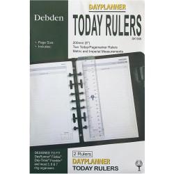 Debden Dayplanner Refill Desk Today Ruler 216X140mm Pack Of 2