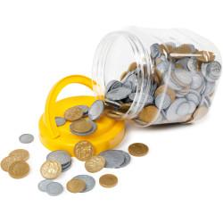 Learning Can Be Fun Money Set Gold & Silver Australian Jar of 318