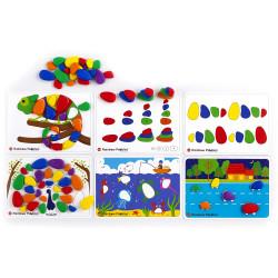 Edx Education Rainbow Pebbles Activity Set