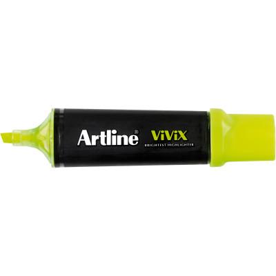 Artline Vivix Highlighter Marker Chisel 2-5mm Yellow